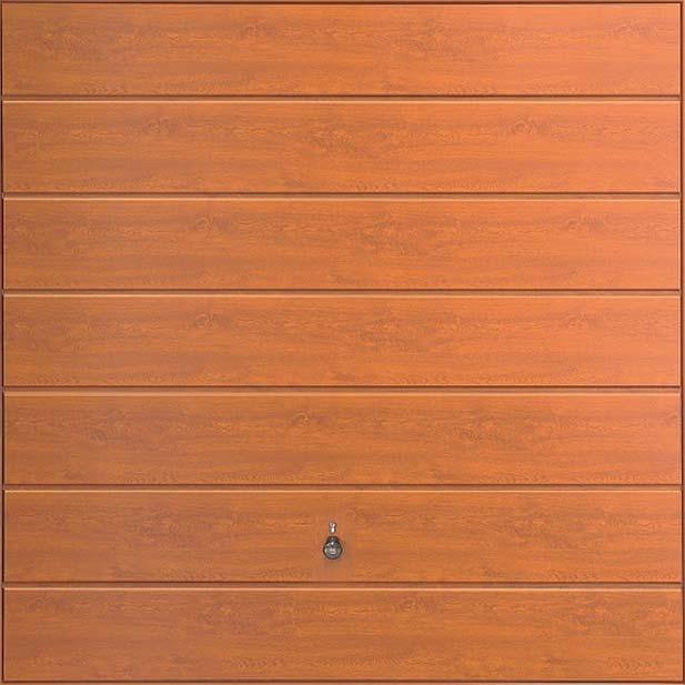 Steel Panel: Horizontal Decograin GoldenOak or Rosewood