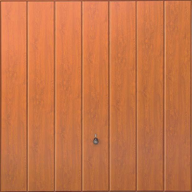 Steel Panel: Vertical Decograin GoldenOak or Rosewood